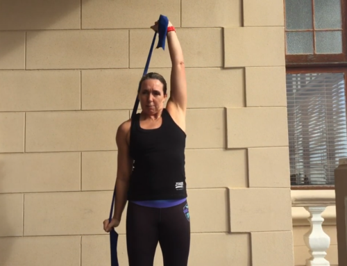 Dry Land Swim Strength – Theraband Triceps & Shoulders